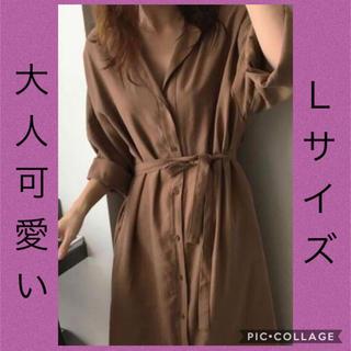 ロングシャツワンピース♡新品(ロングワンピース/マキシワンピース)
