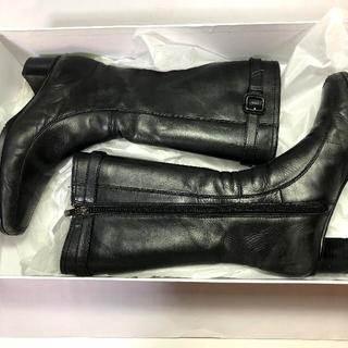 レディースブーツ ブラック 23センチ(ブーツ)
