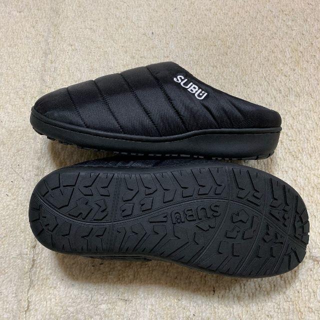 新品 SUBU スブ 黒 ブラック 冬用サンダル ボアサンダル メンズ レディー レディースの靴/シューズ(サンダル)の商品写真