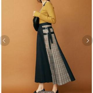 snidel - MURUA サイドベルトフレアマキシスカート