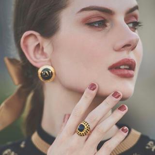 エイミーイストワール(eimy istoire)の定価以下♡eimyistore ブラックストーンリング 指輪 エイミー(リング(指輪))