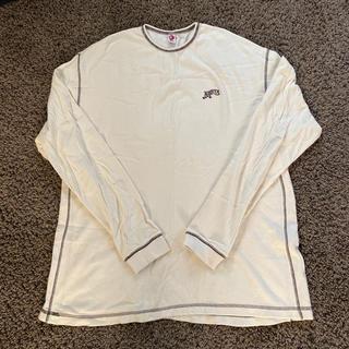 ネスタブランド(NESTA BRAND)のネスタ メンズ 長袖 ロンT ワッフル ホワイト XXL(Tシャツ/カットソー(七分/長袖))