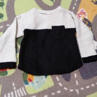 プティマイン(petit main)のpetit main バイカラートップス 100cm(Tシャツ/カットソー)