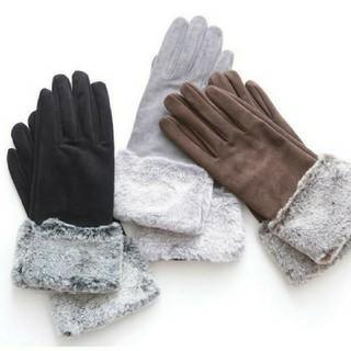 JUSGLITTY - JUSGLITTY 新品未使用 ファー グローブ 手袋 黒 ブラック