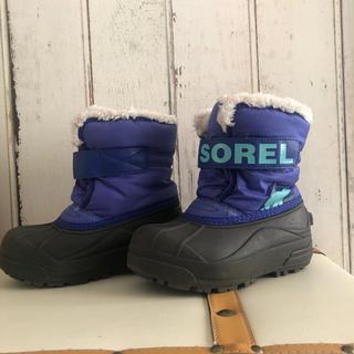 SOREL - SOREL スノーブーツ ブルー 子供用 17cm