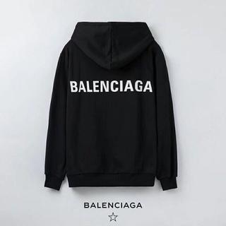 バレンシアガ(Balenciaga)のブラックXXL「2枚12000円送料込み」バレンシアガBALENCIAGAパーカ(パーカー)