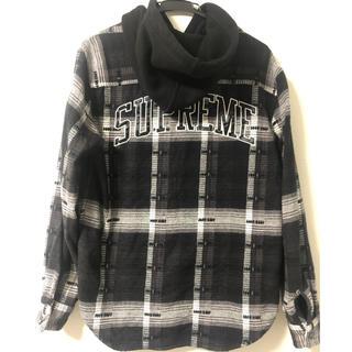 Supreme - Supreme Hooded Jacquard Flannel Shirt S