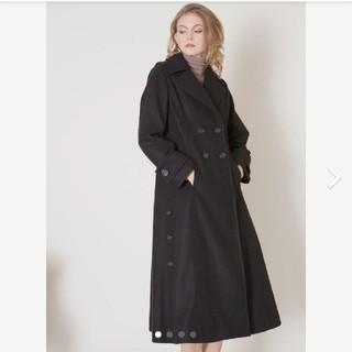 リエンダ(rienda)のミエリインヴァリアント Hybrid Flare Knit Coat ブラック(ロングコート)