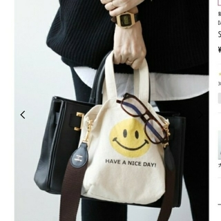 DEUXIEME CLASSE - ドゥーズィエムクラス SMILEY FACE スマイルバッグ
