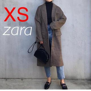 ZARA - 新品 ザラ チェック柄オーバーサイズコート XS