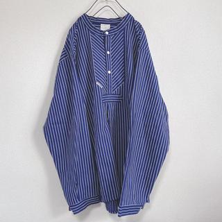 modas フィッシャーマンシャツ ワイドストライプ 58