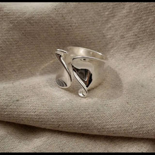 BEAUTY&YOUTH UNITED ARROWS - tear drop ring silver925