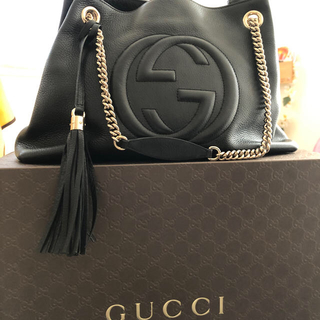 Gucci - 人気*定価20万 グッチ ソーホー レザー チェーン ショルダー トートバッグ