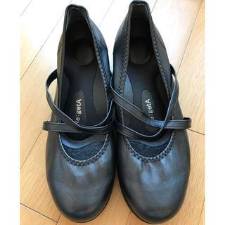 リゲッタ(Re:getA)のアクア様専用 are:getA ミドルウェッジ5cm パンプス ブラック(ローファー/革靴)