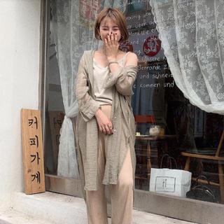 TODAYFUL - NOKCHA sheer long gown グリーン