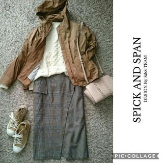 スピックアンドスパン(Spick and Span)の美品◆スピックアンドスパン 40 ラウンドカット ラップスカート(ロングスカート)