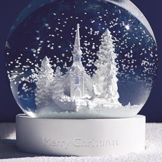 ウェッジウッド(WEDGWOOD)のウエッジウッド  スノーグローブ スノードーム 2018 限定 クリスマス(置物)