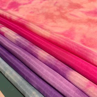 6匁羽二重ピンク紫系6枚セット(生地/糸)