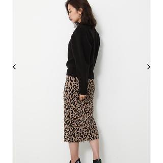 rienda - レオパードニットスカート