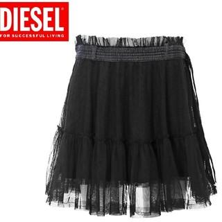 ディーゼル(DIESEL)の●新品  DIESEL ディーゼル レディース  フレアミニスカート ブラック(ミニスカート)