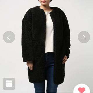 リエンダ(rienda)のriendaボアコクーンコート黒(毛皮/ファーコート)