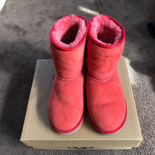 アグ(UGG)のugg 回数少なめ オレンジ ムートンブーツ 22.5cm(ブーツ)