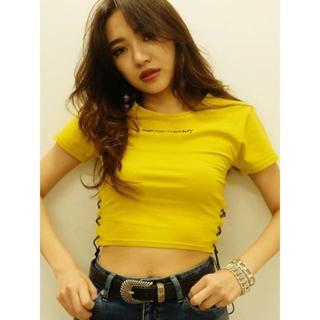 エヴリス(EVRIS)の新品 EVRIS エヴリス サイドレースアップショートTシャツ(Tシャツ(半袖/袖なし))