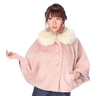 リズリサ(LIZ LISA)のLIZ LISA☆新品♪Tralala*ファー付き2wayポンチョコート(ポンチョ)