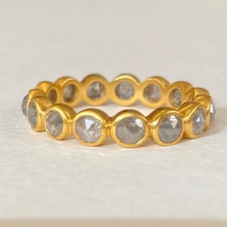 乳白色グレーダイヤモンドフルエタニティ k18ゴールドリング検索マリーエレーヌ (リング(指輪))