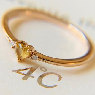 4℃ - canal4°C 誕生石 ダイヤモンドシリーズ k10 7号 シトリンリング