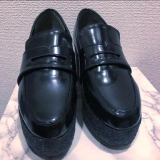 ミラオーウェン(Mila Owen)の美品 ミラオーウェン 厚底ローファー 箱付き(ローファー/革靴)