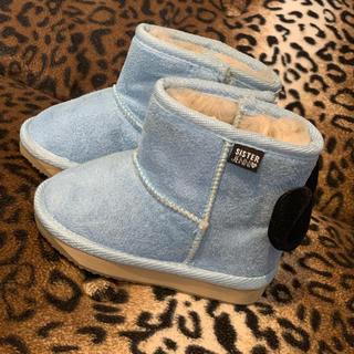 ジェニィ(JENNI)のJENNI ブルーのスエードブーツ (ブーツ)