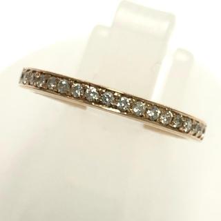 重ね付け ダイヤ リング 指輪 ハーフエタニティ k18pg ピンクゴールド