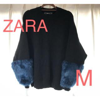 ZARA - ZARA❁︎袖ファー ニットセーター
