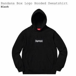 Supreme - Mサイズ Supreme Bandana Box Logo Hooded 黒