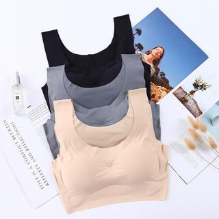 黒Lサイズ!人気のノンワイヤーブラジャー 縫い目ゼロ 産後用 ナイトブラ