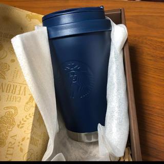 Starbucks Coffee - スタバ タンブラー マットネイビー To Goロゴ ステンレス