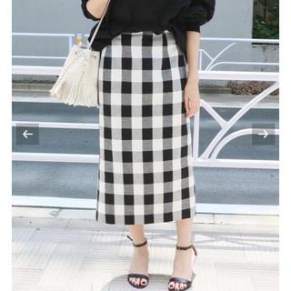 イエナ(IENA)のイエナ  ブロックチェックタイトスカート 34(ロングスカート)