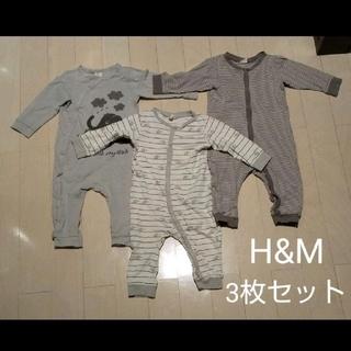 H&M - H&M・ロンパース3枚セット(サイズ74㎝)