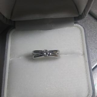 プラチナ ダイヤモンド リング 8号