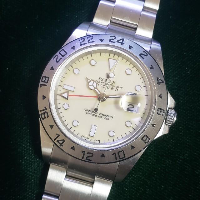 オメガ 時計 コンステレーション メンズ / ROLEX - 16550アイボリーカスタム 希少センタースプリットダイヤルの通販 by elp's shop