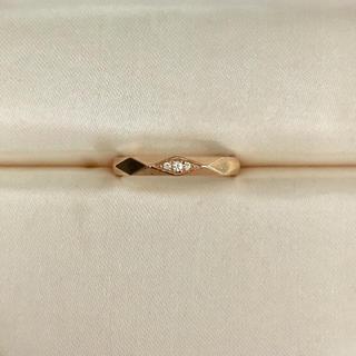 BOUCHERON - ブシュロン ファセット ダイヤモンド リング K18PG 3mm 3.4g