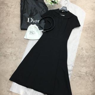 Christian Dior - 【美品】ChrisItian Dir ディオール ベルト フォーマル ワンピース