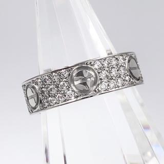 Cartier - 【仕上済】カルティエ ラブリング WG ダイヤ 11号 レディース リング 指輪