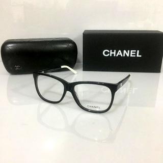 CHANEL - シャネル メガネフレーム 3230 ブラックホワイト CHANEL