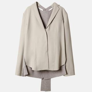 ルシェルブルー(LE CIEL BLEU)のAW19 IRENE Back Knit Light Jacket (テーラードジャケット)