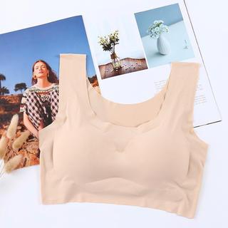 ベージュ!Lサイズ!人気のノンワイヤーブラジャー 縫い目ゼロ 産後用 ナイトブラ