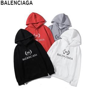 Balenciaga - ✨2枚13000円送料込み★BALENCIAGA★4色長袖パーカー男女兼用【白】