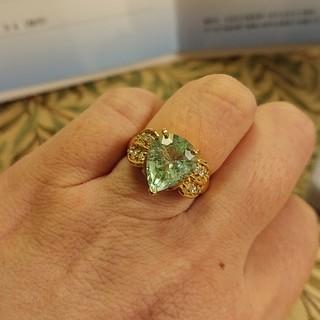 K18リング  天然パライバトルマリンの指輪