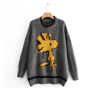 ウッドストック ニット セーター オーバーサイズ (ニット/セーター)
